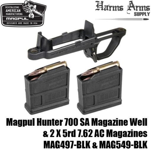 MAGPUL HUNTER 700 Mag Well +2X 7 62 AC Magazines AICS for Remington 700 SA