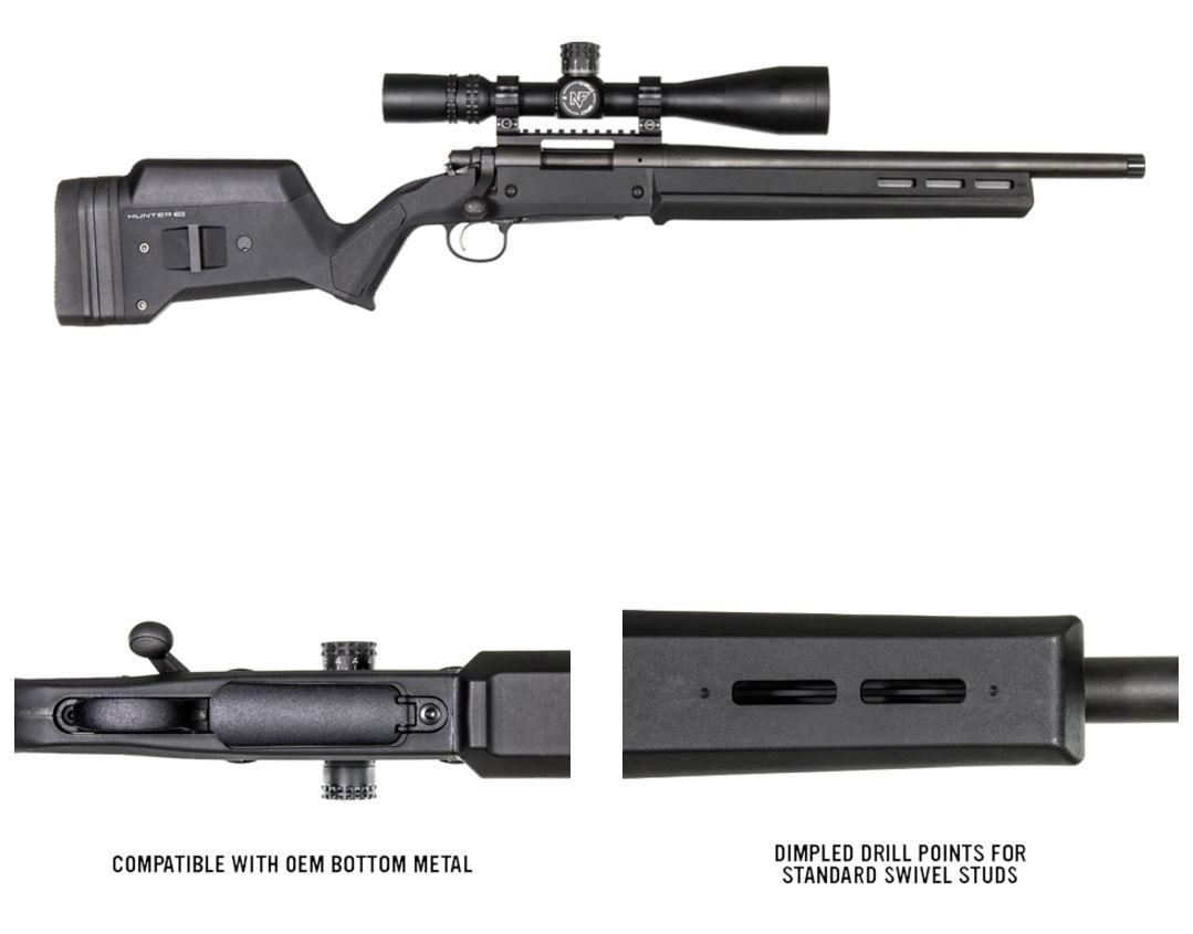 Magpul Hunter 700 Stock Remington 700 Short Action Black