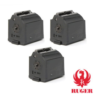 3 pack of BX-1 10-round factory rotary magazines for the Ruger 10/22